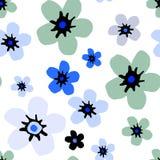 Estampado de flores simple imágenes de archivo libres de regalías