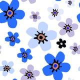 Estampado de flores simple Fotos de archivo