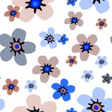 Estampado de flores simple fotografía de archivo
