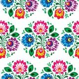 Estampado de flores tradicional inconsútil de Polonia stock de ilustración