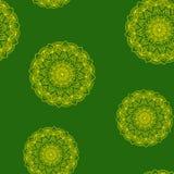 Estampado de flores verde-amarillo inconsútil Imagen de archivo