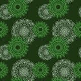 Estampado de flores verde inconsútil Fotografía de archivo