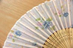 Estampado de plores chino de la fan del foco. Fotos de archivo libres de regalías