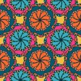 Estampado de plores colorido de la mandala del VECTOR Imágenes de archivo libres de regalías