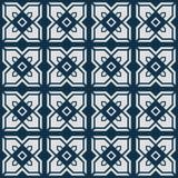 Estampado de plores cuadrado abstracto japonés ilustración del vector