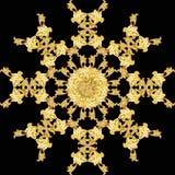 Estampado de plores de oro ilustración del vector