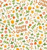 Estampado de plores feliz de Pascua Fotografía de archivo libre de regalías