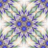 Estampado de plores inconsútil hermoso en diseño del fractal Ilustraciones para Fotos de archivo libres de regalías