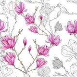 Estampado de plores de la magnolia libre illustration