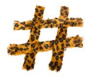 Estampado leopardo Hashtag Fotos de archivo libres de regalías