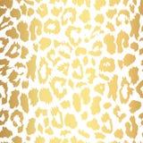 Estampado leopardo inconsútil del oro Modelo del vector, textura, fondo foto de archivo