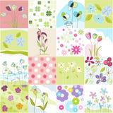 Estampados de flores inconsútiles ilustración del vector