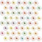 Estampados de flores inconsútiles de la belleza en fondo verde Foto de archivo libre de regalías