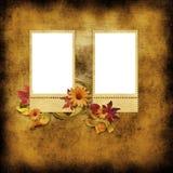 Estampar-marcos en fondo de la vendimia Fotografía de archivo