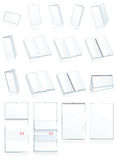 Estamper-appuyez la production de papier. Feuillets, livrets explicatifs Photographie stock