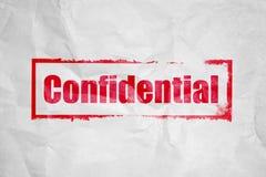 Estampillage confidentiel Photos libres de droits