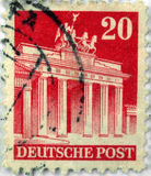 estampille allemande Image stock