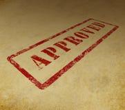 Estampille approuvée sur le fond grunge Photographie stock libre de droits