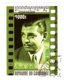 Estampille avec Clark Gable photographie stock libre de droits