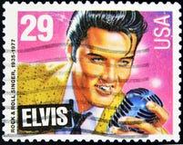 Estampille avec Elvis Presley Photographie stock libre de droits