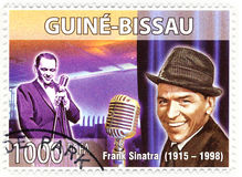 Estampille avec Frank Sinatra Images stock