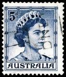 Estampille avec la Reine Elizabeth II Image libre de droits