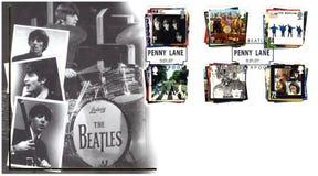 Estampille avec le Beatles Photos libres de droits