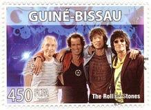 Estampille avec Rolling Stones Image libre de droits