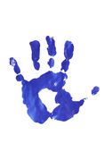 Estampille bleue de paume Photographie stock