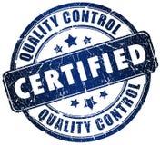 Estampille certifiée illustration de vecteur