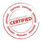 Estampille certifiée Images libres de droits