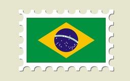 estampille d'indicateur du Brésil illustration stock