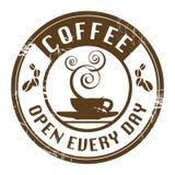 Estampille de café illustration libre de droits