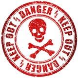 Estampille de danger de crâne illustration de vecteur