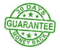 Estampille de garantie de dos d'argent de 30 jours illustration libre de droits