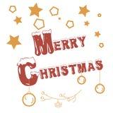 Estampille de Joyeux Noël illustration de vecteur