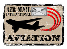 Estampille de la poste aérienne Photos stock