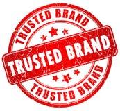 Estampille de marque de Tusted Image stock