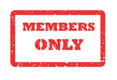 Estampille de membres seulement Images stock