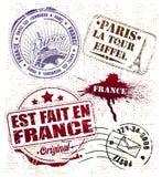 Estampille de Paris Images libres de droits