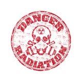 Estampille de rayonnement de danger illustration stock
