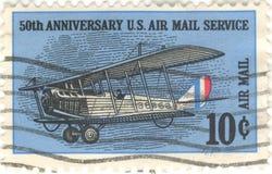 Estampille de service de la poste aérienne des USA Images libres de droits