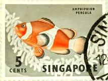 Estampille de Singapour Photo libre de droits