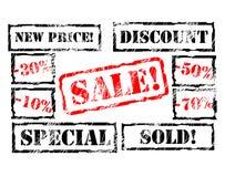 Estampille de vente Photographie stock