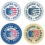 Estampille des Etats-Unis, fabriquée aux Etats-Unis illustration stock