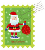 Estampille du père noël de Noël illustration stock