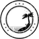 Estampille en caoutchouc de vecteur avec le palmier tropical Photos libres de droits