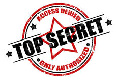 Estampille extrêmement secrète Photographie stock libre de droits