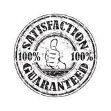 Estampille garantie par satisfaction Photographie stock