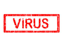 Estampille grunge de bureau - VIRUS Photographie stock